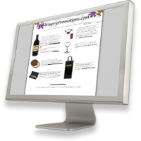 Promotions and gift shop items for the Wine industry