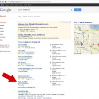 Happy Face Spa - First page Google listing
